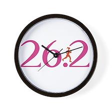 26.2 Marathon Run Like A Girl Wall Clock