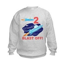 Outer Space 2nd Birthday Sweatshirt