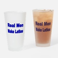 REAL MEN MAKE LATKES Drinking Glass