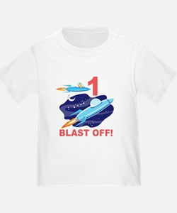Outer Space 1st Birthday T