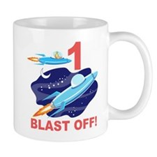 Outer Space 1st Birthday Mug