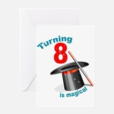 Magic Party 8th Birthday Greeting Card