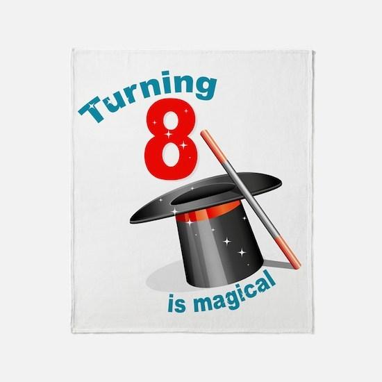 Magic Party 8th Birthday Throw Blanket