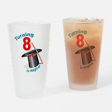 Magic Party 8th Birthday Drinking Glass