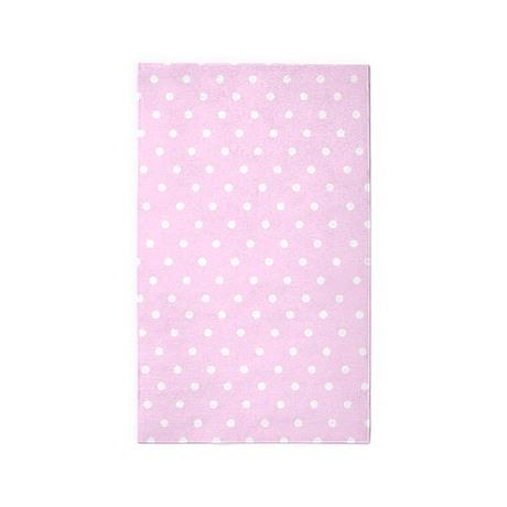 Pink And White Polka Dot 3u0027x5u0027 Area Rug