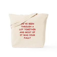 blame Tote Bag