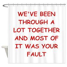blame Shower Curtain