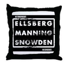 Ellsberg Manning Snowden Throw Pillow