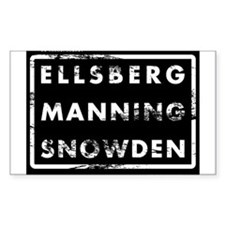Ellsberg Manning Snowden Decal