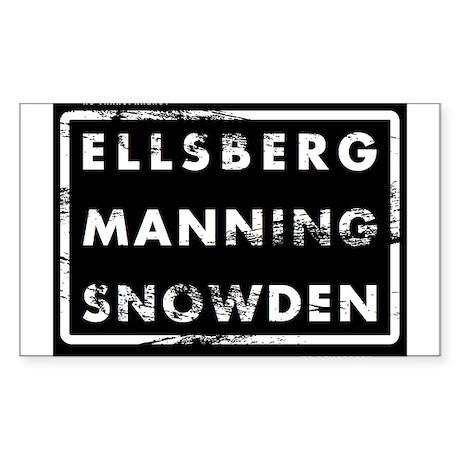 Ellsberg Manning Snowden Sticker