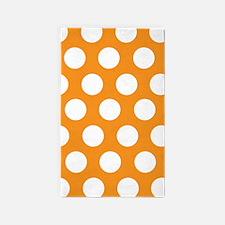 Orange large polka dot 3'x5' Area Rug