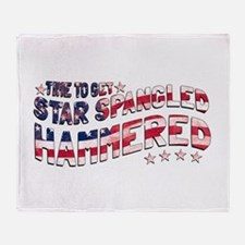 Star Spangled Hammered Throw Blanket