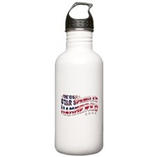 Star Spangled Hammered Water Bottle