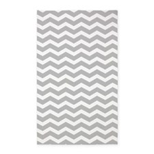 Grey and white Chevron 3'x5' Area Rug
