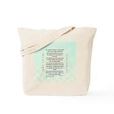 Retired Nurse Poem Tote Bag