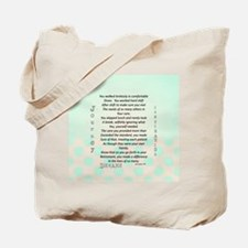 Retired Nurse Poem Tote Bag