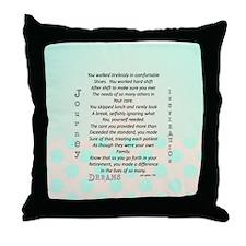 Retired Nurse Poem Throw Pillow