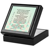 Nurse poem Keepsake Boxes