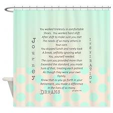 Retired Nurse Poem Shower Curtain