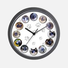Ragdoll Wall Clock