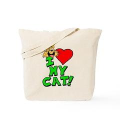 "I Love My ""Orange"" Cat Tote Bag"