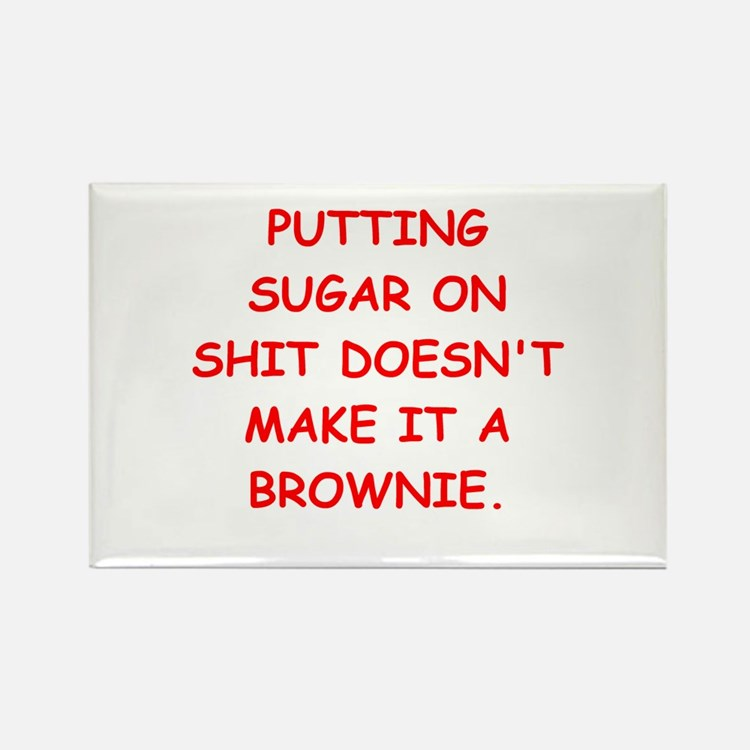BROWNIES Rectangle Magnet