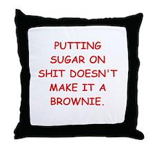 BROWNIES Throw Pillow