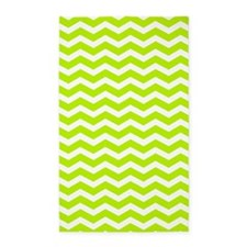 Lime Green and white Chevron 3'x5' Area Rug