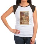 """Footsteps of Love"" Women's Cap Sleeve T-Shirt"