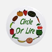 Produce Circle Of Life Ornament (Round)