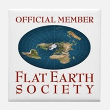 Flat Earth Society - Tile Coaster