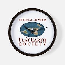 Flat Earth Society - Wall Clock