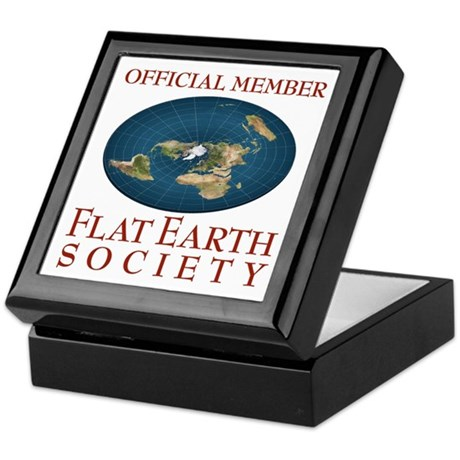 Flat Earth Society - Keepsake Box