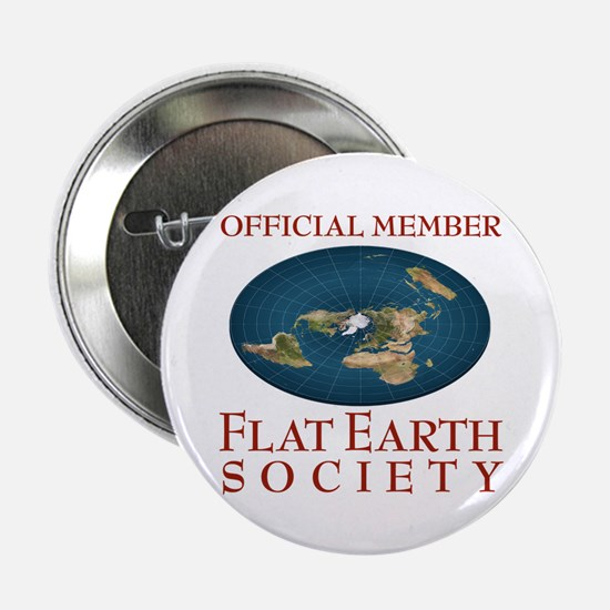 "Flat Earth Society - 2.25"" Button"
