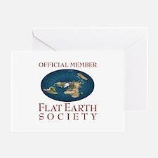 Flat Earth Society - Greeting Card