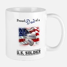 Proud Dad of a U.S. Soldier Small Small Mug
