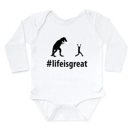 Run From Dinosaur Long Sleeve Infant Bodysuit