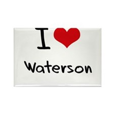 I Love Waterson Rectangle Magnet