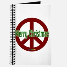 Merry Christmas Red Peace Sign Journal