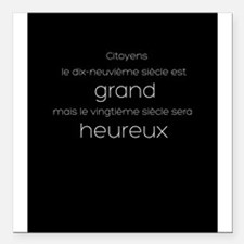 """Grand or Happy Square Car Magnet 3"""" x 3"""""""