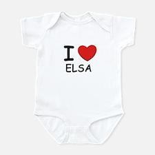 I love Elsa Infant Bodysuit