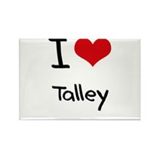 I Love Talley Rectangle Magnet
