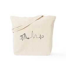 San Francisco Heartbeat (Heart) Tote Bag