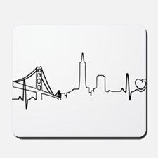 San Francisco Heartbeat (Heart) Mousepad