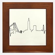San Francisco Heartbeat (Heart) Framed Tile