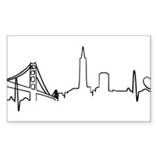 San Francisco Heartbeat (Heart) Decal