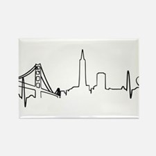 San Francisco Heartbeat (Heart) Rectangle Magnet