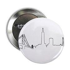"San Francisco Heartbeat (Heart) 2.25"" Button"