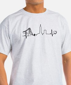 San Francisco Heartbeat (Heart) T-Shirt