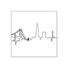 San Francisco Heartbeat Sticker